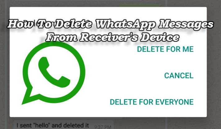 Как удалить сообщения WhatsApp с устройства получателя