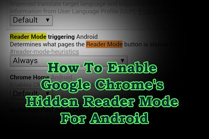 Как включить режим скрытого чтения в Google Chrome для Android