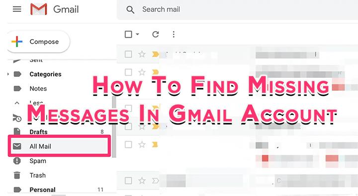 Как найти отсутствующие электронные письма в учетной записи Gmail