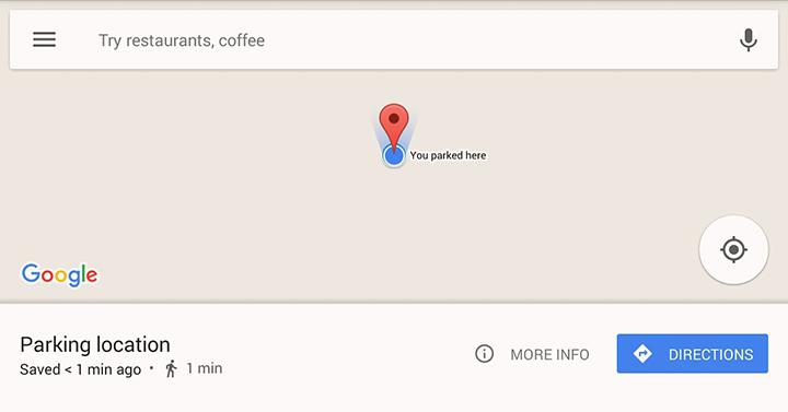 Как легко найти место для парковки на картах Google