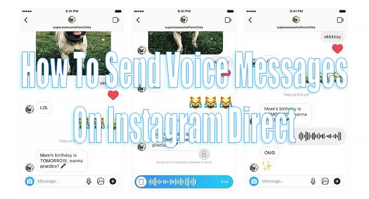 Как отправлять голосовые сообщения в приложении Instagram Direct