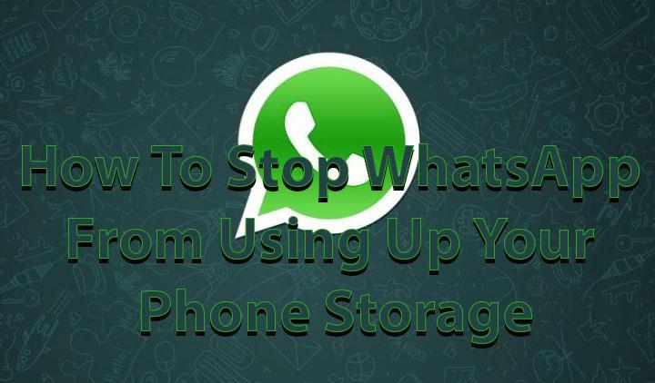 Как запретить WhatsApp использовать память вашего телефона