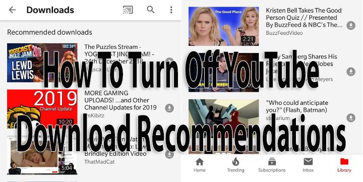 Как отключить рекомендации по загрузке видео с YouTube