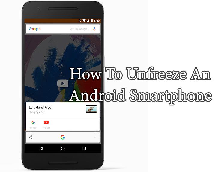 Как разморозить смартфон или планшет Android