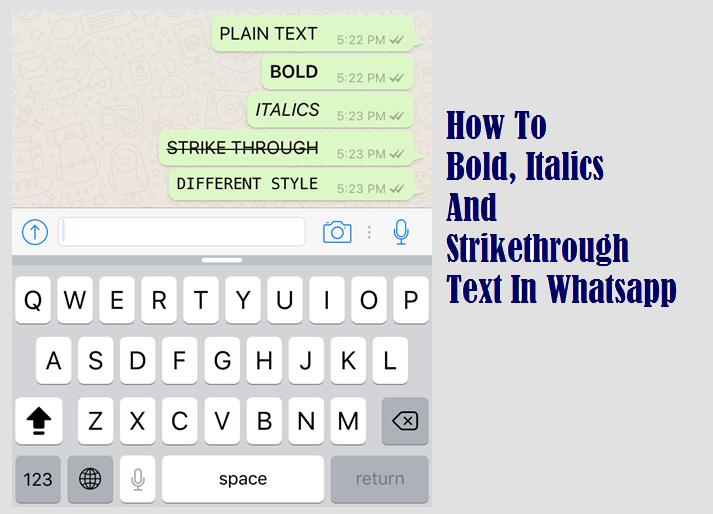 Как выделить жирный, курсив и зачеркнутый текст в WhatsApp