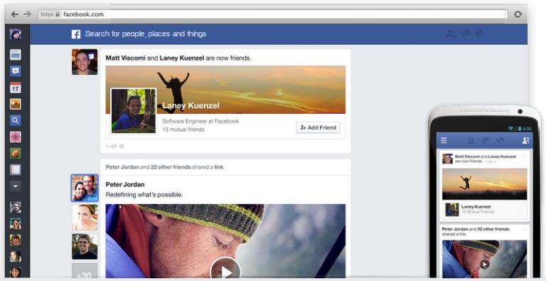 Как получить новый дизайн ленты новостей Facebook?