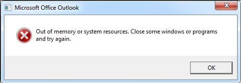 Недостаточно памяти или системных ресурсов