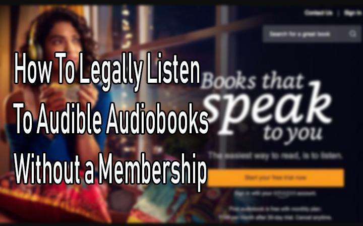 Как легально слушать аудиокниги без членства