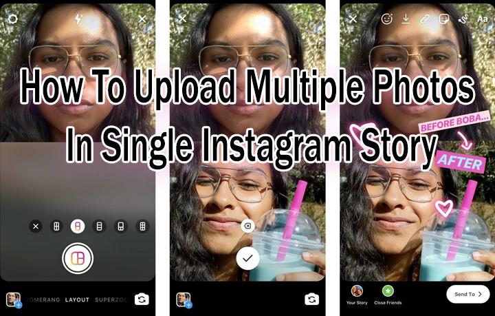 Как загрузить несколько фотографий в одну историю в Instagram