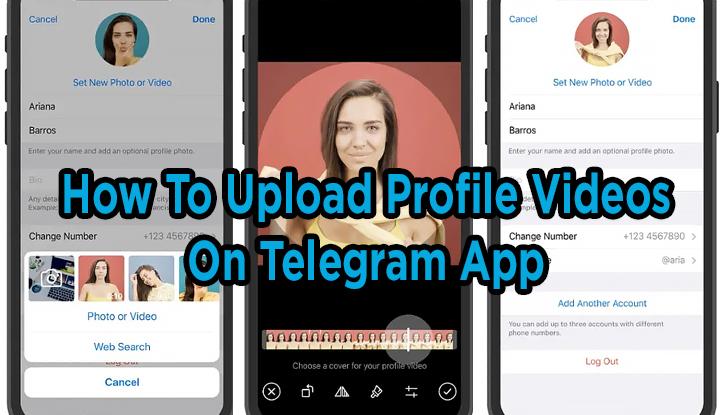 Как загружать видео профиля в приложение Telegram вместе с фотографиями профиля