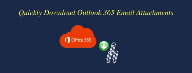 Как быстро загрузить вложения из нескольких писем в Office 365