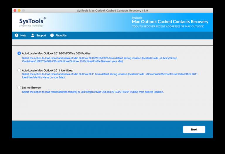 Знайте, как экспортировать автозаполнение адресов электронной почты Outlook 2016 в MAC