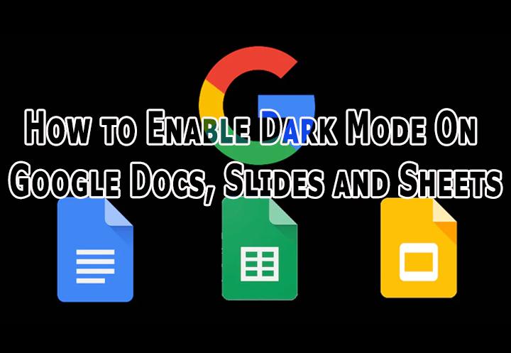 Как включить темный режим в Google Документах, слайдах и таблицах