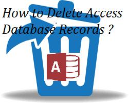 Как удалить записи базы данных Access вручную?