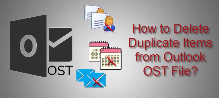Пошаговое руководство по удалению повторяющихся элементов из файлов Outlook OST