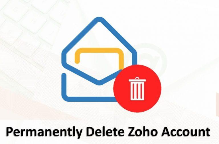 Как удалить учетную запись Zoho навсегда за несколько простых шагов