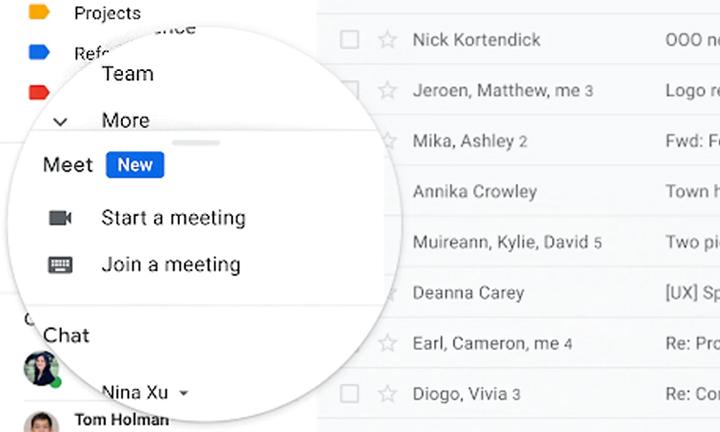 Как совершать видеозвонки в Google Meet из самого Gmail