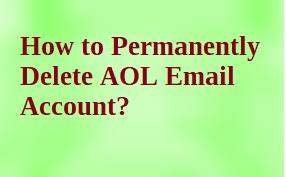 Как навсегда удалить учетную запись электронной почты AOL