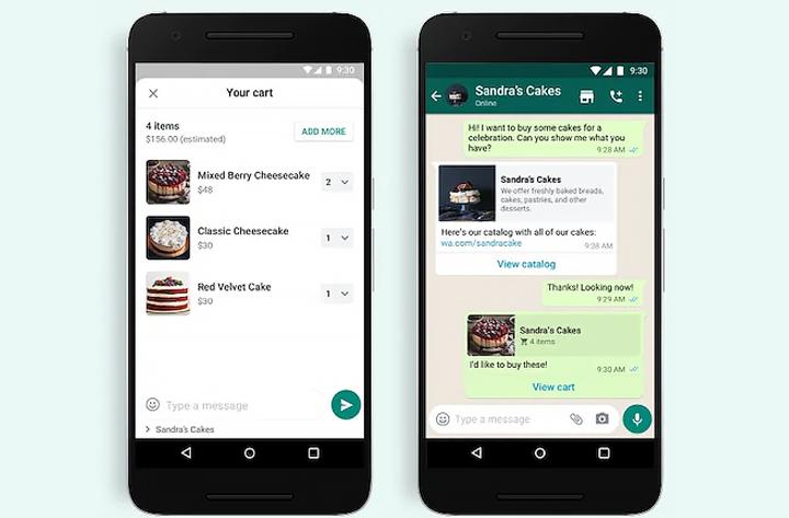 Как работает кнопка «Добавить в корзину» в WhatsApp