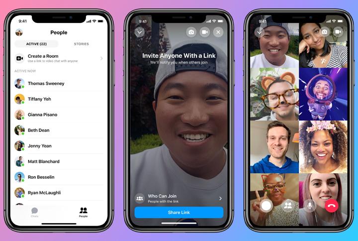 Как совершать групповые видеозвонки через новые комнаты обмена сообщениями Facebook