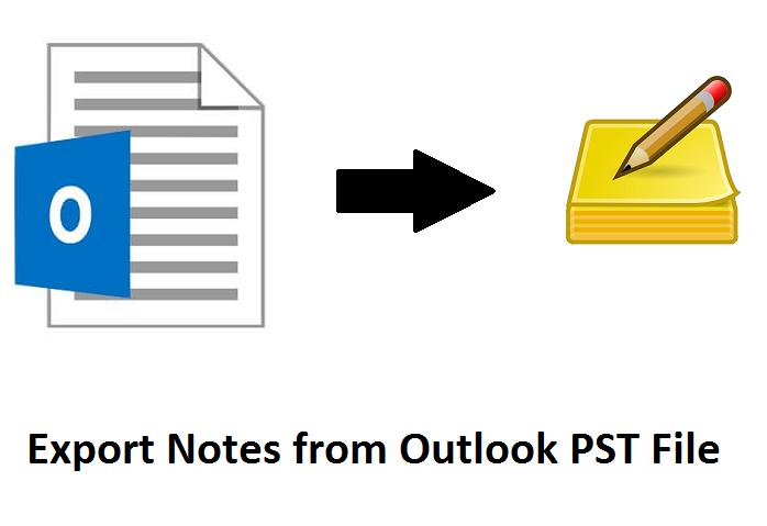 Экспорт заметок из файла Outlook PST