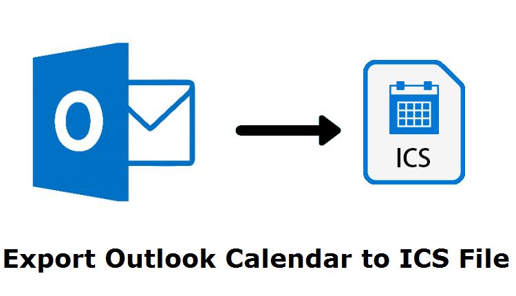 Экспорт календаря Outlook в формат файла ICS вручную