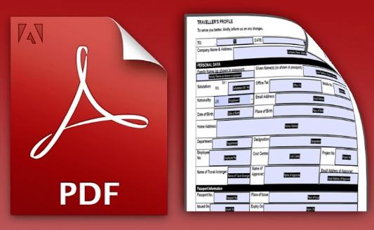 Почему нельзя заполнять поля формы PDF
