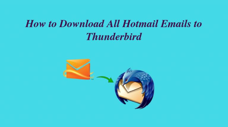 Как загрузить электронные письма Hotmail в Thunderbird – переместить данные Outook.com