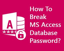 Как взломать пароль доступа к базе данных MS Access