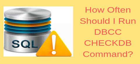 Как часто следует запускать DBCC CHECKDB?  Получите свой ответ здесь