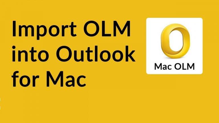 Создайте OLM в Outlook 2011 Mac и экспортируйте все данные