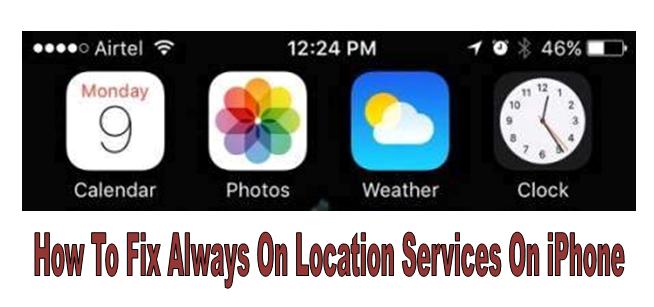 Как исправить Always On Location Services на iPhone