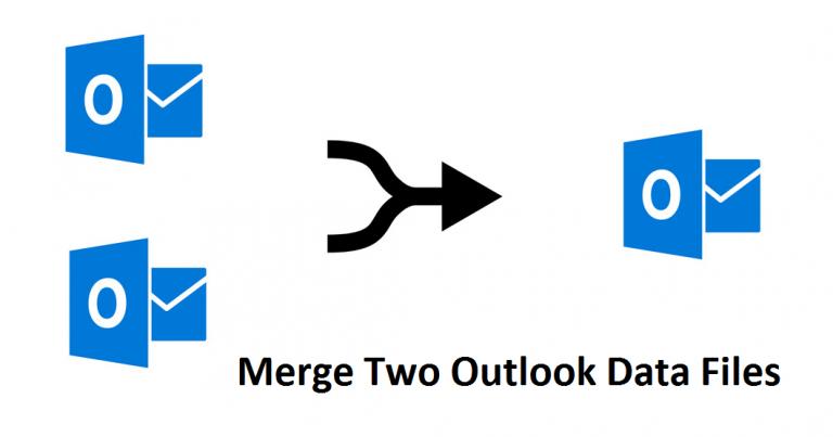 Как объединить два файла данных Outlook
