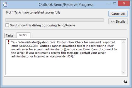 Как исправить ошибку Outlook 0x800ccc0e – 10 лучших методов