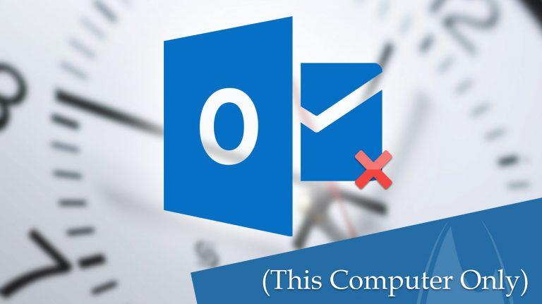 Резервное копирование Outlook 2016, 2013 Контакты / Календари Папки только на этом компьютере