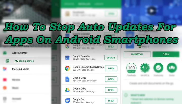 Как остановить автоматические обновления приложений на смартфонах Android