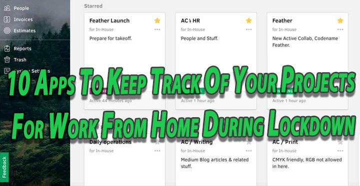 10 приложений для отслеживания ваших проектов, работая из дома