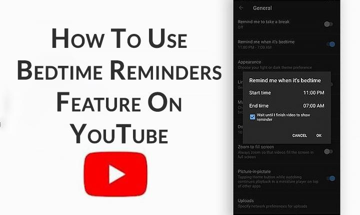 Как использовать функцию напоминаний на ночь на YouTube