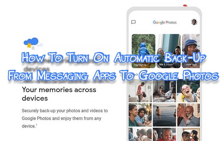 Как включить автоматическое резервное копирование в Google Фото
