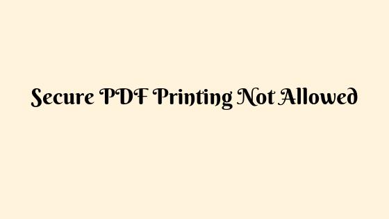 Безопасная печать PDF-файлов запрещена