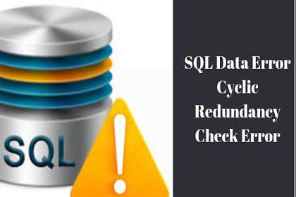 Ошибка данных SQL Ошибка циклической проверки избыточности – узнайте, как исправить