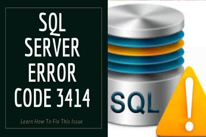 Исправить проблему с кодом ошибки SQL Server 3414