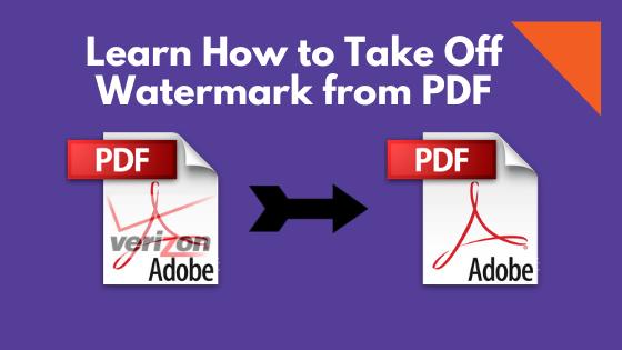 Как снять водяной знак с PDF?  Лучшие методики 2020 года