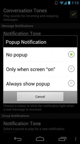 Как включить всплывающие уведомления для WhatsApp на Android
