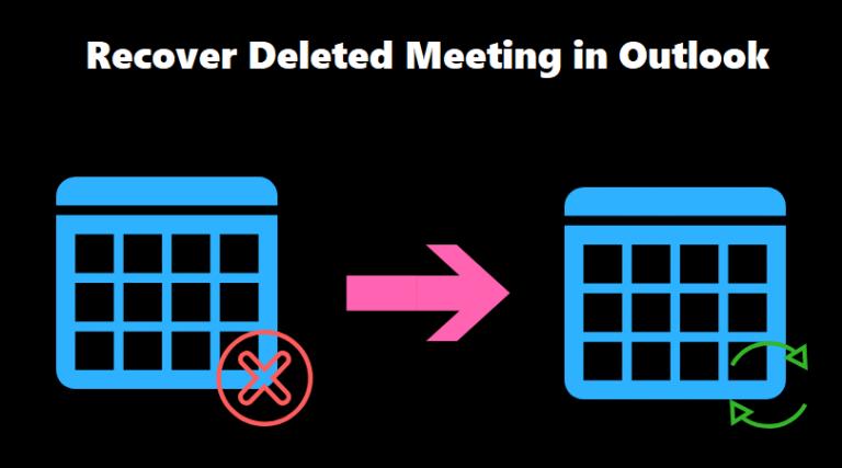 Восстановить удаленное собрание в Outlook – вернуть данные 3 способами