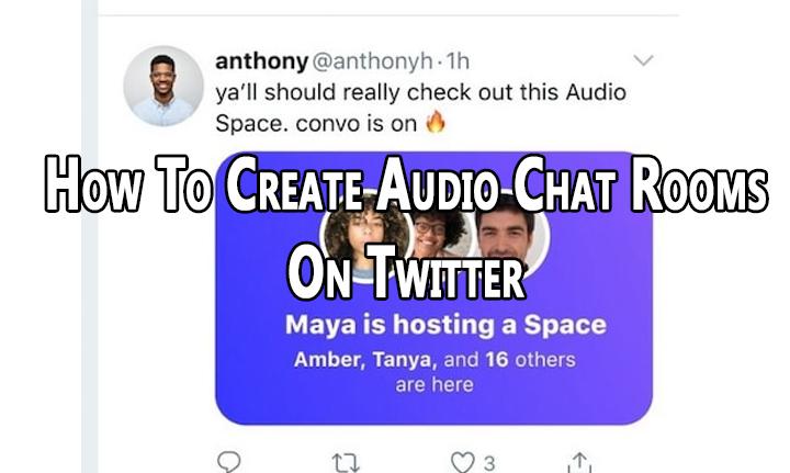 Как создать комнаты аудиочата в Twitter Spaces