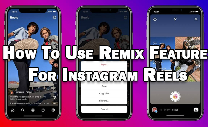 Как использовать функцию ремиксов для роликов Instagram