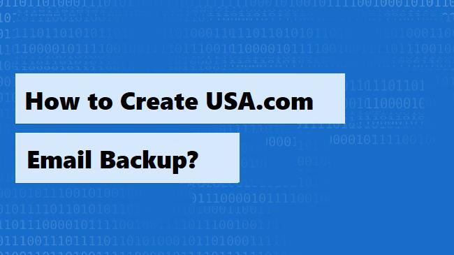Резервное копирование электронной почты USA.com – единственный способ сохранить данные локально