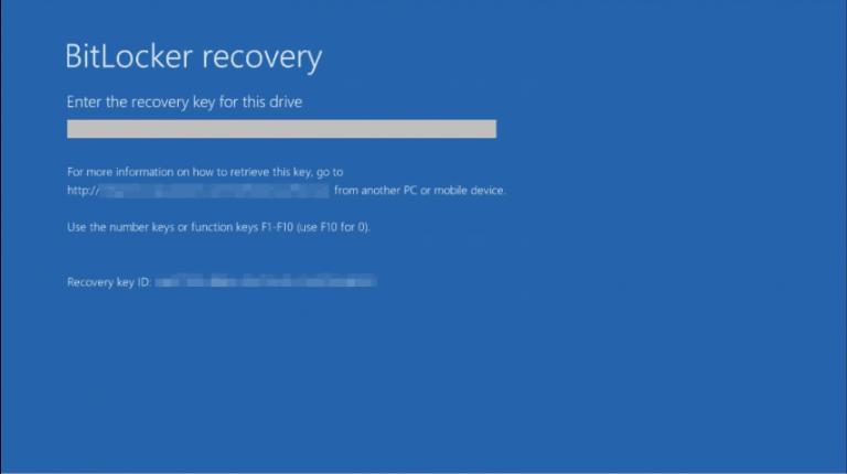 Исправлено: не удалось разблокировать с помощью этого ключа восстановления ошибка BitLocker
