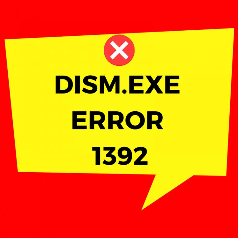 Как исправить ошибку Dism.exe 1392 на компьютере с Windows
